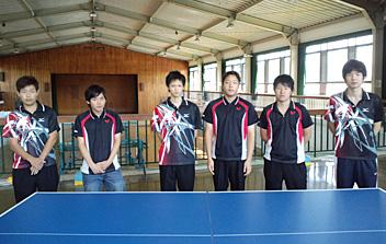 卓球部 部員数4名(男4名) チームとしての意識を高め、1つ1つ勝つことを目指... [体育会]